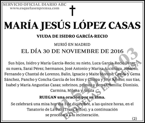María Jesús López Casas